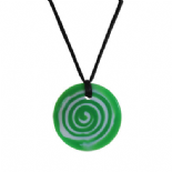 Button Pendant - 'Gremlin' (Green & White) - Chewigem